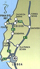 Praia D'El Rey Golf Course Travel Map