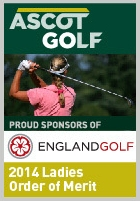 Ascot Golf is proud sponsor of the England Ladies Order of Merit